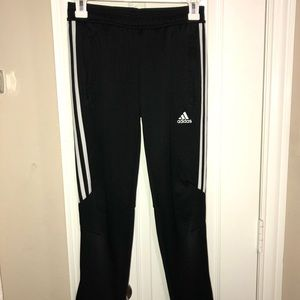Adidas Black and while joggers
